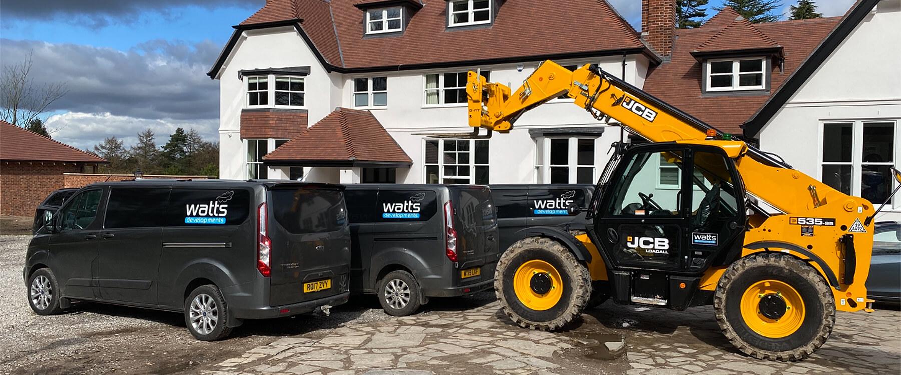 Watts Developments Transit Vans and JCB 535 fork lift